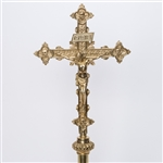 PROCESSIONAL CROSS WITH BRASS CORPUS
