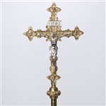 PROCESSIONAL CROSS WITH SILVER CORPUS
