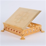 TRADITIONAL GOLD PLATED GOTHIC MISSAL STAND WITH STONES