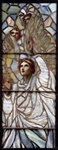 SG-10 Genuine TifffanyStudios Angel stained glass window.