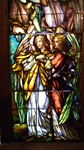 Two Angels Facing Left, Antique Stained Glass Window By J&R Lamb Studios.