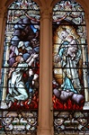 Antique  Stained Glass Window,