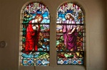 Antique German Stained Glass Window,