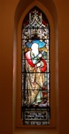 Antique early American Stained Glass Window, St. Abraham