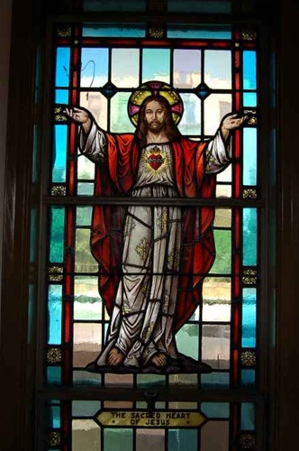 Sg 415 Sacred Heart Of Jesus Stained Glass Window