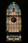 SG-463, St. Anthony - Traditional Antique Church Stained Glass Window