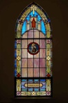 SG-469, Our Lady of Mount Carmel - Traditional Antique Church Stained Glass Window