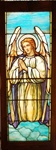 Praying Angel Antique Stained Glass Window, By J&R Lamb Studios - Circa 1905