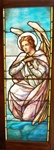 Kneeling Angel, Antique Stained Glass Window By J&R Lamb Studios.