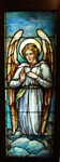 Ready to Pray Angel, Antique Stained Glass Window By J&R Lamb Studios.