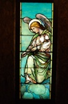 Angel With Scepter, Antique Stained Glass Window By J&R Lamb Studios.
