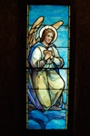 Adoring Angel, Antique Stained Glass Window By J&R Lamb Studios.
