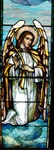 Angel with Zither Antique Stained Glass Window, By J&R Lamb Studios - Circa 1905