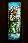 Angel With Censer, Antique Stained Glass Window By J&R Lamb Studios.
