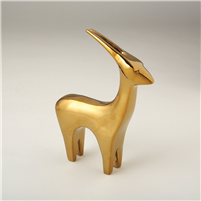 Abstract Animal Sculpture - Antelope in Bright Gold