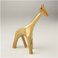 Abstract Animal Sculpture - Giraffe in Bright Gold