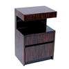 Plush Home Lacquer Open Table in Macassar Ebony, Small