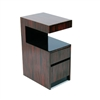 Plush Home Lacquer Open Table in Macassar Ebony, Thin