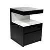 Plush Home Lacquer Open Table in B&W, Large