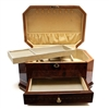 Plush Home Lacquer Jewelry Box, Chestnut Jewelry Box in High Lacquer Sheen