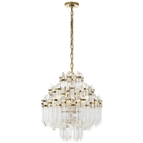 Adele Four Tier Waterfall Chandelier with Clear Acrylic
