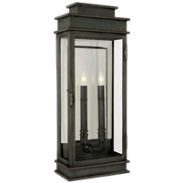 Linear Lantern Tall in Bronze