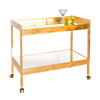 Gold Leaf and Mirror Bar Cart