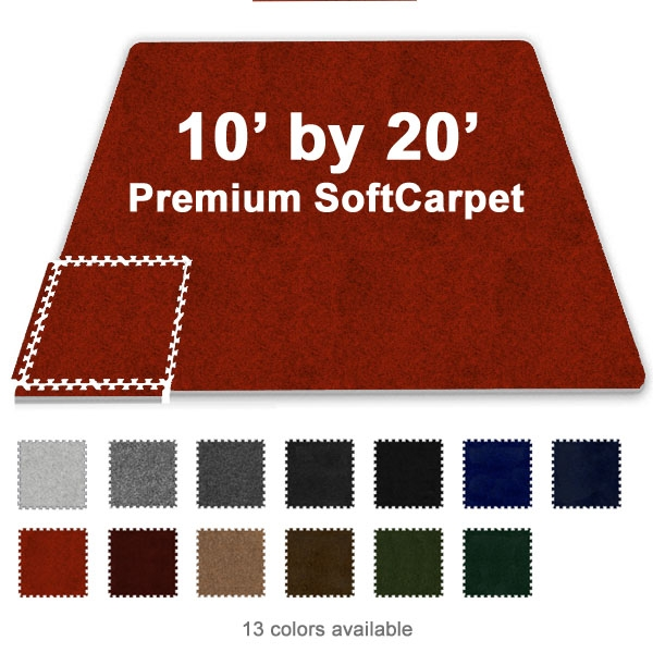 10 Ft X 20 Ft Premium Interlocking Soft Carpet Tile
