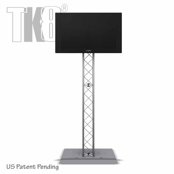 8ft Tk8 Aluminum Truss Monitor Stand With Tv Mount