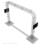 CHEVRON - 16FT X 12FT ULTRATRUSS BOX TRUSS ARCH WITH MONITOR MOUNTS