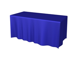 6ft 3 Sided DRAPED Table Throw