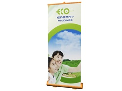 "31.5""W Bamboo Retractor Banner Display Kit"