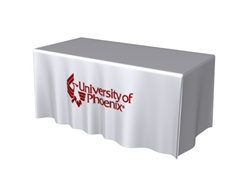 6ft DRAPED Table Throw Full Color Thermal Imprint