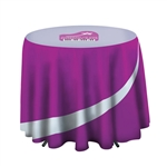 "31.5"" Cafe Draped Round Table Throw"