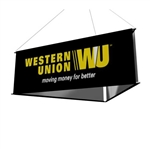8ft 3-Sided Hanging Banner Stand with Graphics