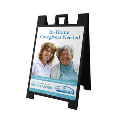 Visiting Angels A-Frame Double-Sided Folding Sign