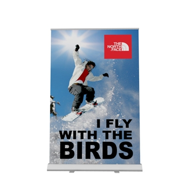 "80""W x 123""H Adjustable Large Format Banner Stand"