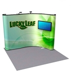 10ft ENERGY Corner Full Mural Pop Up Kit with Monitor Mount