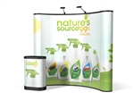 8ft ENERGY Curved Full Mural Pop Up Kit