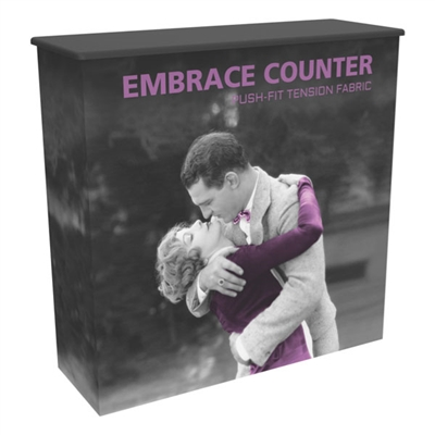 Embrace SEG Fabric Podium Counter with Shelf