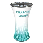 8-port Charging Station Tension Fabric Round Table
