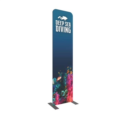 "23.5"" Formulate Straight Double Sided Fabric Banner Stand"
