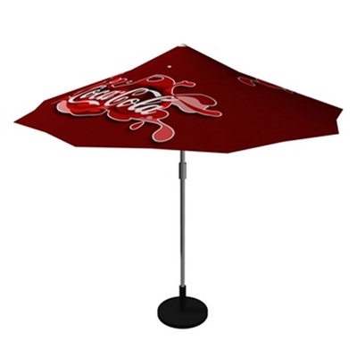 Trade show promotional umbrellas - available in Off-white, Green or Burgundy