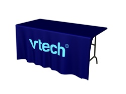 6ft Table DRAPE Front 1-Color Imprint