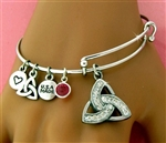 """Celebrating The Cure"" Trinity Charm Bangle (BCTRINITY)"