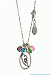 """A Mother's Heart"" Birthstone Charm Necklace (BIYHCHARMBANGLE) (BIYH BS CN)"