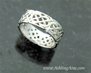 8mmSterling Silver Celtic Eternity Band (#BQ1004)