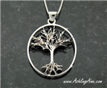 Sterling Silver  Family Tree Pendant/necklace, Tree of Life(BQ1010)