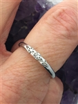 Sterling Silver Trinity Ring, (BQ1019) Dainty with four Trinity Knots