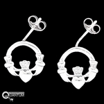 Sterling Silver Claddagh Post Earrings (#BQ248)